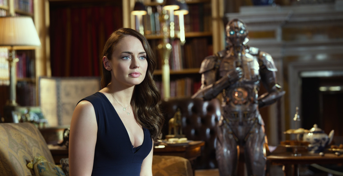 Laura Haddock as Viviane Wembly in TRANSFORMERS: THE LAST KNIGHT, from Paramount Pictures.